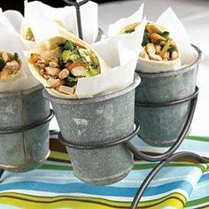 Pork Wraps with Fresh Tomatillo Salsa Recipe | MyRecipes.com