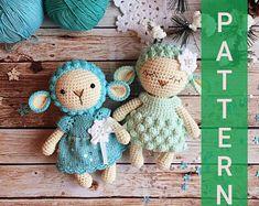 Amigurumi pattern/Crochet pattern/Crochet sheep/Crochet lamb/Knitting pattern/Toy pattern/Crochet toy/Plushie/Amigurumi animals/Stuffed toy