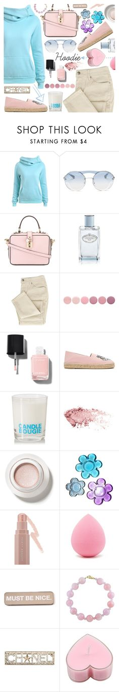 """Hoodie"" by tinkabella222 ❤ liked on Polyvore featuring Prada, Dolce&Gabbana, Deborah Lippmann, Kenzo, Comme des Garçons, Puma, Forever 21, RIPNDIP, Effy Jewelry and Chanel"