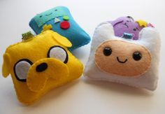 Adventure Time Keychain Set by by michellecoffee