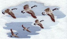 geese in flight to embroidery - Google Search