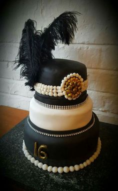 Gatsby inspired 16th Birthday Cake www.chic-dreams.co.uk