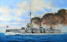 "Russian battleship ""Gangut"" (1914-1956). Revell box-art, by Danijel Frka."