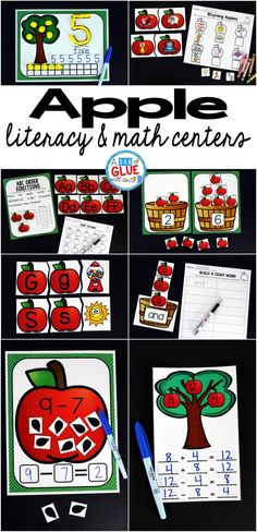 Engage your class in an exciting hands-on experience learning more about the apple! This Apple Literacy and Math Centers resource is perfect for language arts and math centers in preschool, pre-K, Kindergarten, and First Grade classrooms and packed full of inviting student activities. Celebrate Fall with apple themed center student worksheets. Students will learn more about apples using puzzles, worksheets, clip cards, and subtraction mats. This pack is great for homeschoolers, hands-on kids…