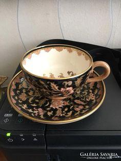 Zsolnay teás csésze tányérral 1878-85