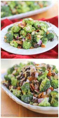 Broccoli Salad - always the first thing to go at BBQs. www.the-girl-who-ate-everything.com