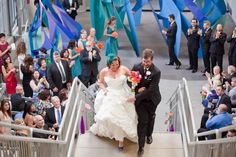 Wedding Ceremony at The New Children's Museum San Diego. Photo by Blair Nicole Photography.