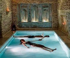 Indoor Pools, Spas, Home Spa Room, Earth Sheltered Homes, Diy Swimming Pool, Farm Village, Small Spa, Mini Spa, Wellness Resort