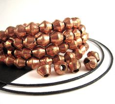 50 African Copper Beads 5x7mm Half Strand Hand by EthnicBeadShop