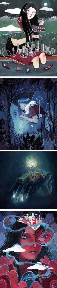 Julia Iredale | surreal illustration | illustrations of women | fairy tale art