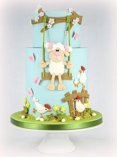 Little Lamb Easter Cake - SugarEd Productions Online Classes