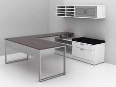 Looking for a white executive desk? IOF can do that. Looking for white custom office furniture desks with floating tops, pigeonhole or flat file storage, and. Commercial Office Furniture, Flat Files, Custom Desk, Counter Design, Home Office Desks, Cubicle, Furniture Companies, Furniture Makeover