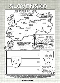 Indoor Activities For Kids, Games For Kids, Crafts For Kids, Colouring Pages, Adult Coloring Pages, Passports For Kids, World Thinking Day, Bratislava, Free Prints