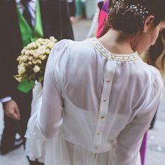 Vestido novia camisero de Alejandra Svarc