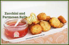 Zucchini and Parmesan Balls   Stay at Home Mum