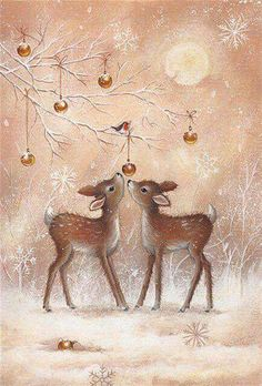 Festive and unique Merry Christmas cards from Leanin' Tree feature original holiday card designs and delightful verses. Christmas Scenes, Christmas Deer, Retro Christmas, Christmas Greetings, Winter Christmas, Christmas Time, Holiday Cards, Christmas Crafts, Christmas Wrapping
