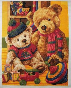 Cross stitch pattern Toys by TatyanaStitch on Etsy