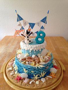 beach/Olaf summer cake