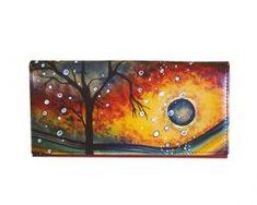Ručne-maľovaná-peňaženka-7757-s-motívom-Zima Night, Artwork, Work Of Art, Auguste Rodin Artwork, Artworks, Illustrators
