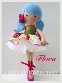 Image of Custom made Large Doll with skirt & tutu