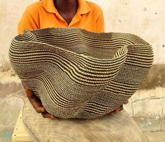 Amazing Pakurigo Wave Basket, very few of the weavers in the Bolgatanga region of Ghana, re-known for basket weaving have the skills required to create these masterpieces. Just gorgeous. Coming soon to Huckleberry. #interiortrends2016 #africanbaskets