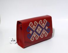 Geanta piele naturala brodata manual Leather Bags Handmade, Traditional, Embroidery, Needlework, Needlepoint, Embroidery Stitches, Cut Work