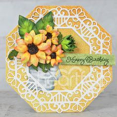 Heartfelt Creations Cards, Birthday Sentiments, Elegant Centerpieces, Flower Spray, Flower Center, Special Birthday, Flower Shape, Flower Petals, Greeting Cards Handmade