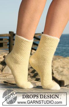 """Crochet-DROPS socks in """"Alpaca"""""""