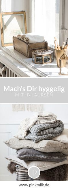 Mach's Dir hyggelig! Mit den tollen Produkten von Ib Laursen im modernen Landhau… Make you hyggelig! With the great products of Ib Laursen in modern country house style. We love dishes and decoration with Scandinavian Nordic charm for our four walls. Country Modern Home, Country Style Homes, Skandinavisch Modern, Modern Decor, Style At Home, Home Design, Home Decor Bedroom, Room Decor, Hygge Home