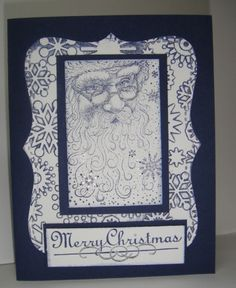 Santa Collage - Homemade Cards, Rubber Stamp Art, & Paper Crafts - Splitcoaststampers.com
