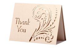 www.intricatecreations.co.uk Fierce Love Laser-Cut Thank You Card