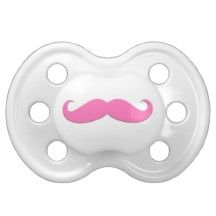 Pink Mustache Pacifier