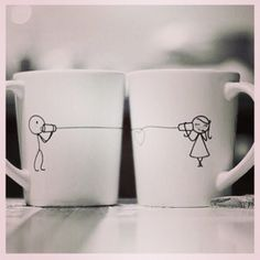 These mugs will be on both bedroom end tables ~ one day