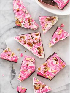 Spicy Pink Bark with Almonds