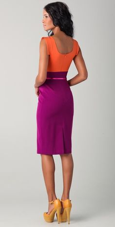 Black Halo's Jackie O Two Tone Dress-love this color combo for spring/summer