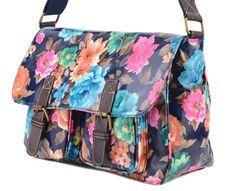 blue-flower-satchel-messengerbags-crossbody-bags www.edsfashions.co.uk
