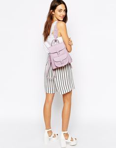 Image 3 of Grafea Mini Backpack in Lilac