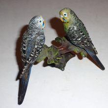 Vienna Bronze: Beautiful Pair Of Parakeets!  Signed Bergmann and KF