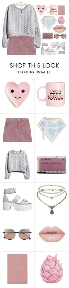 """""""Dream// Imagine Dragons"""" by blood-under-the-skin ❤ liked on Polyvore featuring WithChic, H&M, Korres, Topshop, Linda Farrow, Royce Leather, Zara Home, women's clothing, women and female"""
