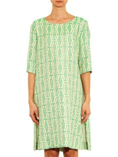 Ter Et Bantine Geometric-jacquard A-line dress