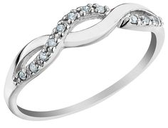Infinity....this is a nice promise ring, maybe somehow add it onto the engagement ring?