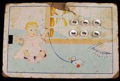 ButtonArtMuseum.com - Super Tiny Baby Doll Size Antique Pearl MOP Shell Buttons Original Graphic Card