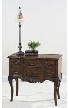 Ultimate Accents Brown Drummond Carved Console Table