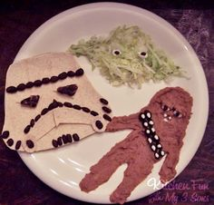 This just made me laugh when I saw it.  Star Wars translated into Mexican food.  So pathetic and funny!