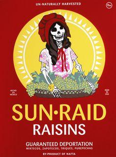 Ester Hernandez  Sun Raid, 2008  Screenprint