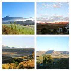 Uitsigte vanaf Arundel Studios in Clarens in die Vrystaat. Afrikaans, South Africa, Studios, Scenery, Around The Worlds, Van, Mountains, Amazing, Blog