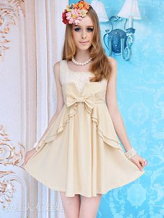 Mango Doll - Beige Sleeveless Babydoll Dress , $54.00 (http://www.mangodoll.com/new-arrivals/beige-sleeveless-babydoll-dress/)