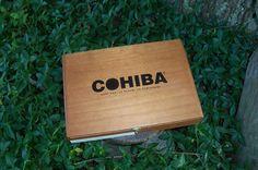 Cigar Box Cohiba Santiago Dominicana Wooden by IndustrialPlanet, $11.20