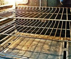 I have to say I tried this today and it worked like a champ!!  Vinegar & baking soda, soaked in the tub with hot water, made it ALOT easier to get the grease and burnt bits off.  How to Clean Oven Racks Naturally