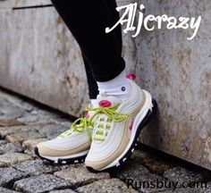098a94c17de9f9 Nike Air Max 97 Beige Pink Light Bone Women Shoes